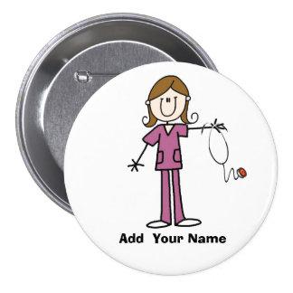 Figura personalizada botão da vara do cabelo de Br Bóton Redondo 7.62cm