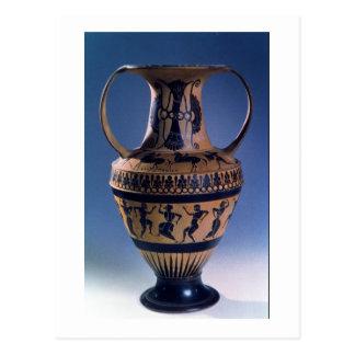 Figura preta amphora do sótão que descreve os cartão postal