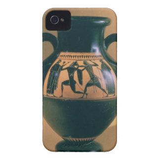 Figura preta amphora do sótão que descreve Theseus Capa De iPhone 4 Case-Mate