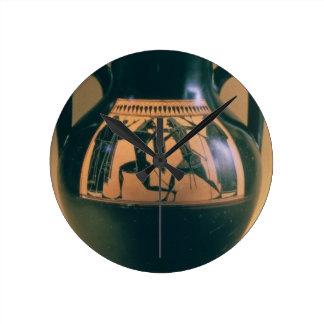 Figura preta amphora do sótão que descreve Theseus Relógio De Parede