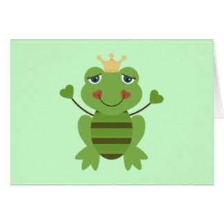 Figura príncipe da vara do sapo cartão comemorativo
