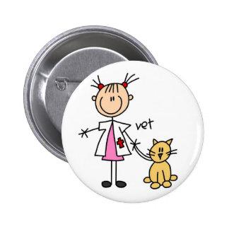 Figura veterinária botão da vara bóton redondo 5.08cm