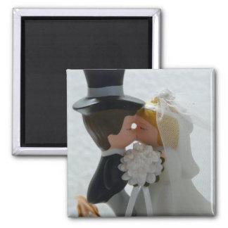 Figuras do casamento ímã quadrado
