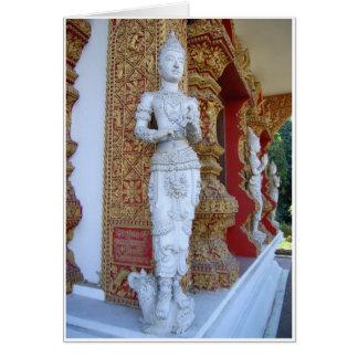 Figuras do templo cartão comemorativo