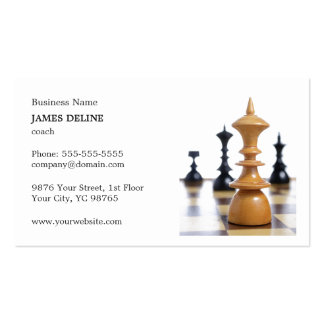 Figuras limpas clássicas treinador da xadrez cartão de visita