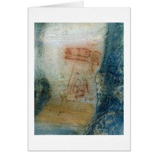 Figuras simbólicas (pintura de caverna) cartão comemorativo