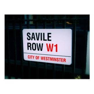 Fileira de Savile - Londres - cartão