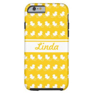 fileira do amarelo branco dos patos - companheiro capa tough para iPhone 6