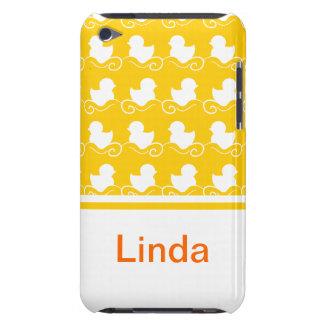 fileira dos patos brancos na case mate amarela do  capas iPod Case-Mate