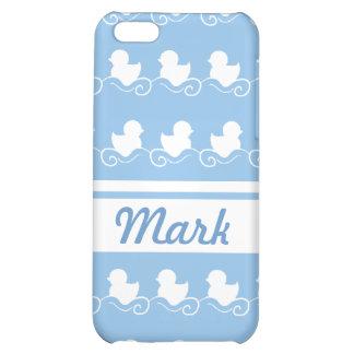 fileira dos patos brancos no speck azul do iPhone  Capa Para iPhone 5C