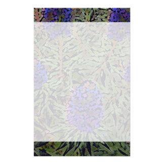 Fileiras da planta roxa Del Mar da lavanda de Papelaria
