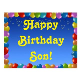 Filho do feliz aniversario do cartão cartão postal