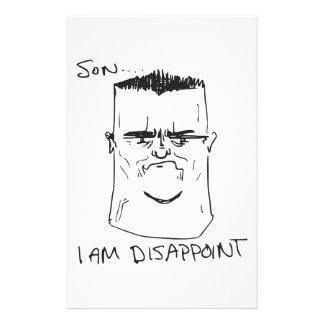 Filho eu sou decepciono a raiva Meme cómico do pai Papelaria
