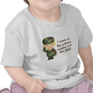 Filho orgulhoso de um exército ou de um pai milita camiseta