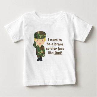Filho orgulhoso de um exército ou de um pai milita tshirts