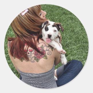 Filhote de cachorro afortunado do T-Osso do Adesivo