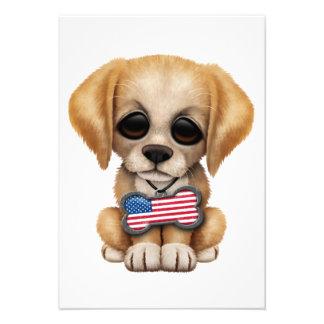Filhote de cachorro bonito com o Tag do animal de Convite Personalizados