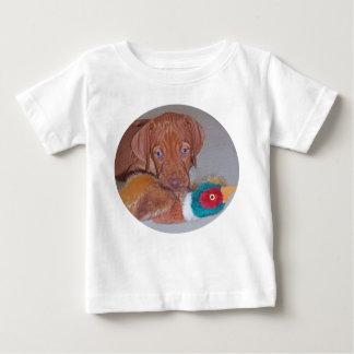 Filhote de cachorro de Vizsla do Hungarian com Tshirt