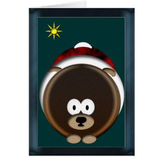 Filhote de cachorro do feriado cartão comemorativo