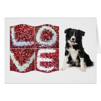 Filhote de cachorro Love~Original Notecard de bord Cartao