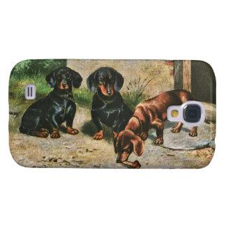 Filhotes de cachorro do Dachshund Capa Samsung Galaxy S4