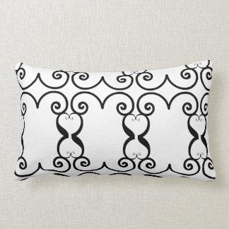 Filigrana preto & branco travesseiros