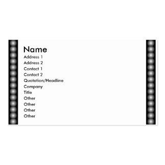 Filme de BW, miçanga, foto Cartão De Visita