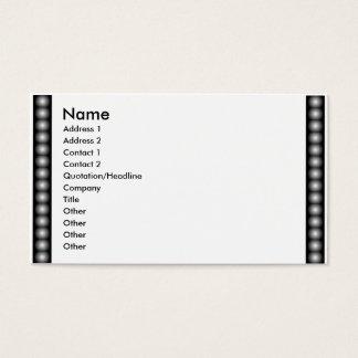Filme de BW, miçanga, foto Cartão De Visitas