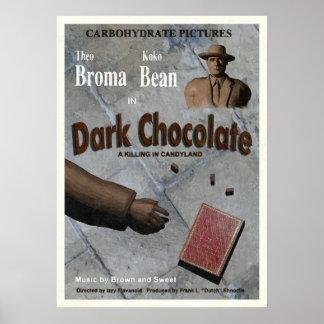 Filme escuro do chocolate