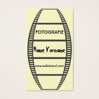 Filme fotografia cartão de visitas