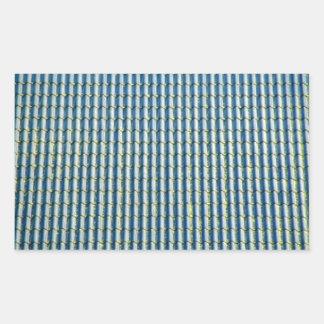 Fim-Acima azul brilhante do telhado Adesivos Em Forma Retangular