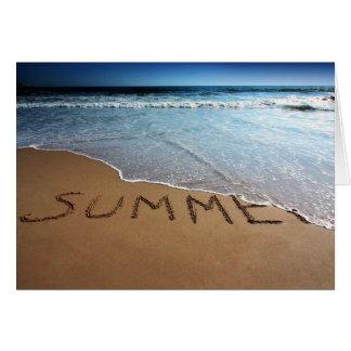 Fim do verão na costa de Calilfornia Cartão Comemorativo