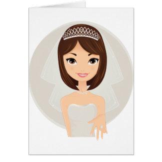 Final da noiva cartão comemorativo