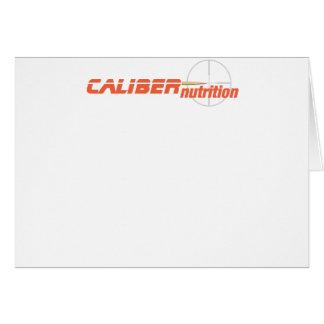 Final da NUTRIÇÃO do CALIBRE Cartão Comemorativo