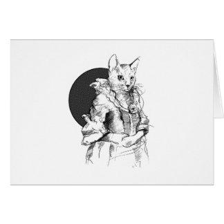 final do gato do victorian cartão comemorativo