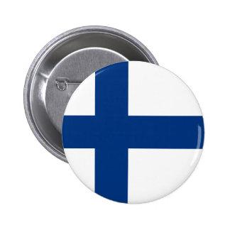 Finlandia - bandeira nacional finlandesa boton
