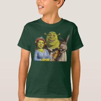 Fiona, Shrek, Puss nas botas, e asno Camiseta