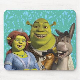 Fiona, Shrek, Puss nas botas, e asno Mouse Pad