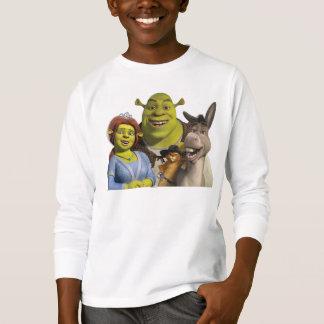 Fiona, Shrek, Puss nas botas, e asno Tshirt