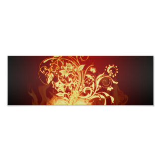 Fire Flowers Poster