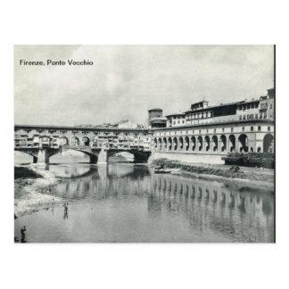 Firenze, Florença,    Ponte Vecchio Cartão Postal