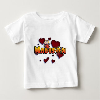 first name Madison with Sun o Tshirt