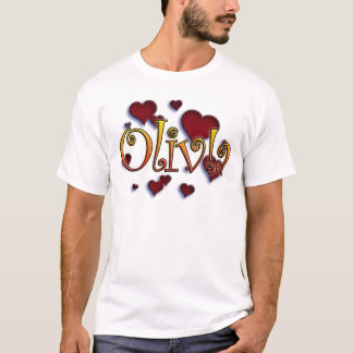 first name Olivia with! as j T-shirts