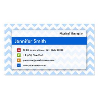 Fisioterapeuta - Chevron azul moderno Cartão De Visita