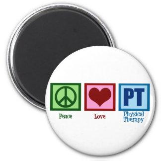 Fisioterapeuta do amor da paz ímã redondo 5.08cm