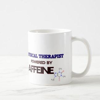 Fisioterapeuta psto pela cafeína caneca