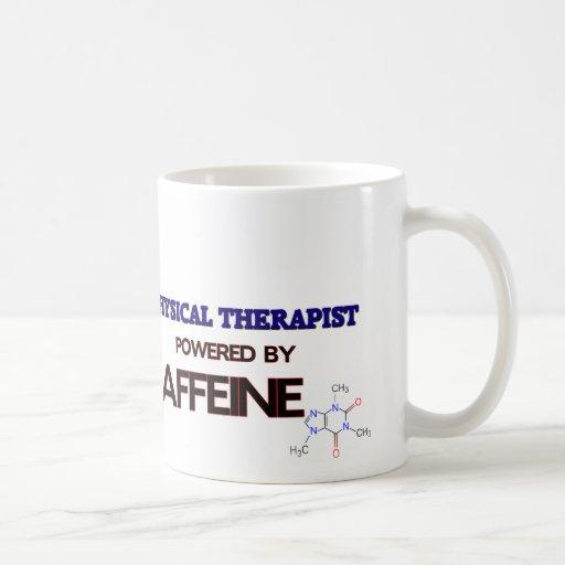 Fisioterapeuta psto pela cafeína canecas