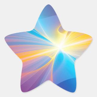 Fita abstrata do fluxo adesivo em forma de estrela