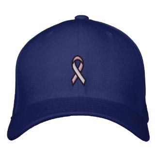 Fita cor-de-rosa do cancro da mama boné bordado