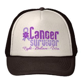 Fita da flor da lavanda do sobrevivente de câncer bone